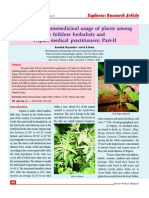 A study on ethnomedicinal usage of plants among the folklore herbalists and Tripuri medical practitioners