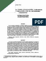 Depresión en La Vejez Evaluación, Variables Implicadas y Relación Con El Deterioro Cognitivo