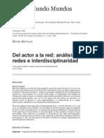 Del Actor a La Red_ Análisis de Redes e Interdisciplinaridad