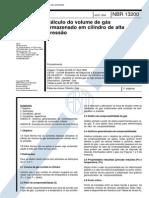 NBR 13200 - Calculo Do Volume de Gas Armazenado Em Cilindro de Alta Pressao