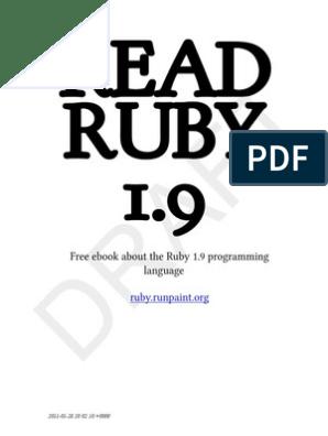 Programar En Ruby Scope Computer Science Control Flow