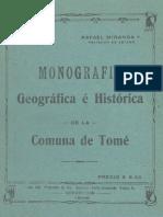 Tomé,  Monografia Geográfica e  Histórica