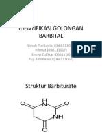 Identifikasi Golongan Barbital Ppt