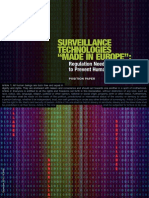 Surveillance Technologies Made in Europe
