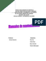 Manuales de Mantenimiento de obras