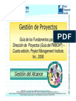 Alcance del Producto y del Proyecto