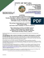 Nevada County BOS Agenda Dec. 2