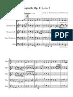 Bagatelle Op 119, No 5 - Score and Parts