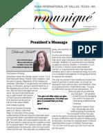 Altrusa International of Dallas, TX, Inc. December Newsletter