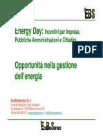 OPPORTUNITA' NELLA GEASTIONE DELL'ENERGIA