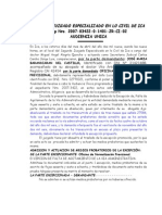 Audiencia Unica (Exp. 2007-03422)