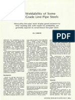 The Weldability of Some Arctic-Grade Line-Pipe Steels