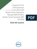 Dell Equallogic Mgmt Pck v4.1 for Ms Sys Center Opr Mangr User's Guide2 Es Mx