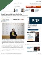 Female Lawyers Still Battle Gender Bias - WSJ
