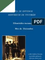Efemerides Tucumanas - Mes de Diciembre- Junta de Estudios Históricos  Tucumán