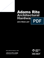 Adams Rite Price Book- 2015