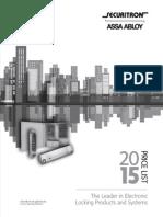 Securitron Price Book- 2015