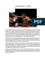 Essay about Pacquiao and Mayweather