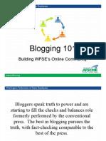 Blogging Training PPT
