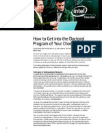 Intel How to Get Into Phd Program