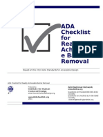 Ada Checklist Word Fillable Form