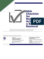 Ada Checklist Word
