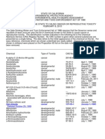 Proposicion 65 Listado de Sustancias Peligrosas 13-02-08