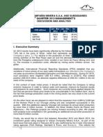 2013 1Q Management Analysis