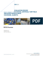 Geotechnical Evaluation Review - Bow Valley High School Artificial Turf