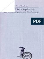 Cornford, F. M_Principium Sapientiae. Los Orígenes Del Pensamiento Filosófico Griego