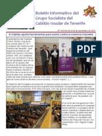 Boletín del Grupo Socialista del Cabildo de Tenerife 103.24 - 30 de noviembre 2014