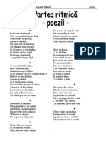 Partea Ritmica Cls 2 - Poezii