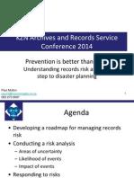 Records Risk Mitigation - Paul Mullon - November 2014