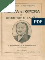 Viaţa Şi Opera Lui Gheorghe Lazăr
