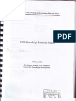 Fssi Knowledge Inventory Report