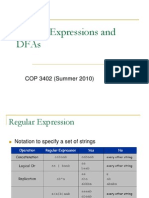 R3 Regular Expressions and DFAs