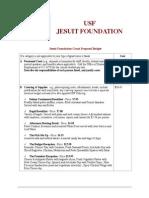 jesuit foundation grant proposal budget sheet