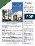 Santa Sophia Bulletin for November 2, 2014