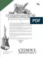 Arcane Listings Catalogue 1984 citadel