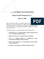 Clean Energy Capital - Ethanol - Report on Current Issues - Aug 19 2008