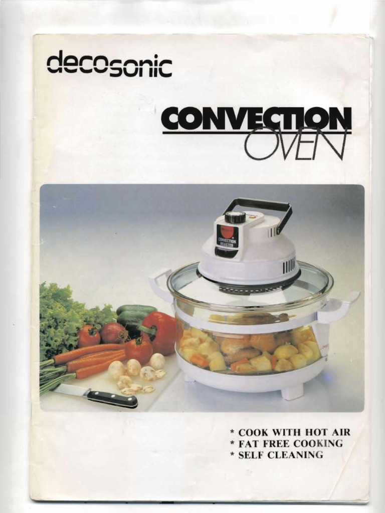 Decosonic Convection Oven Manual Roasting Oven