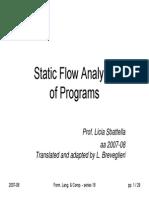 Static flow analysis of programs