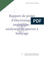 Analyseur Spectre Rapport de Projet