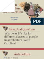 life in antebellum south carolina powerpoint