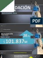 Recaudación fiscal - Noviembre 2014