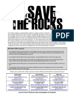 Save the Rocks Flier