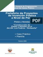 Pistas y Veredas - Caso Practico y Plantilla