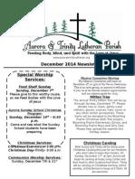 Aurora-Trinity Newsletter Dec14