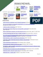 IYI Bibliography Fundraising for Small Nonprofits February2013