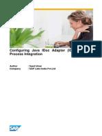 Configuring Java IDoc Adapter (IDoc_AAE) in Process Integration